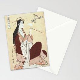 Komurasaki, a courtesan from the Tsunotamaya house  Stationery Cards