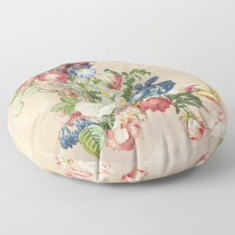 Floral tribute to Louis McNeice (Light) Floor Pillow