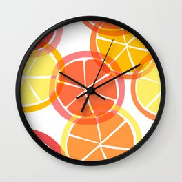 Summer Citruses Wall Clock