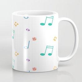 Colorful music notes pattern Coffee Mug