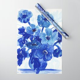 blue stillife Wrapping Paper