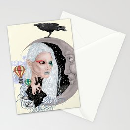 Time - Surreal portrait Stationery Cards