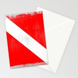 Diver Down Distressed Halftone Denim Flag Stationery Cards
