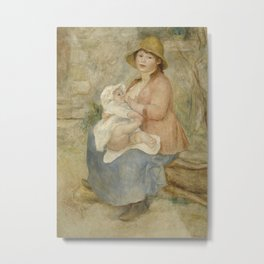 Maternity (Child at the breast) Metal Print