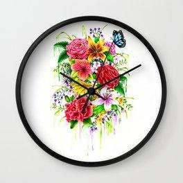 Flowers on my mind Wall Clock