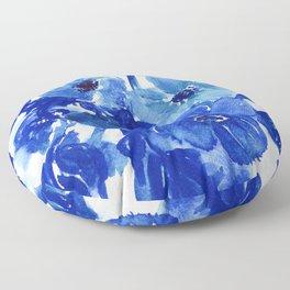blue stillife Floor Pillow