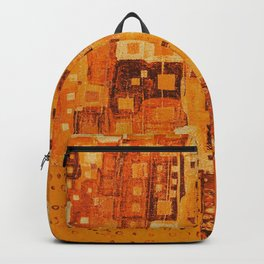 City Grid Pattern in Earth Tones Backpack