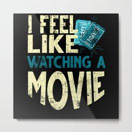 Movie Watching Metal Print