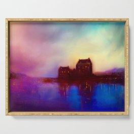 Eilean Donan Castle Sunset Serving Tray
