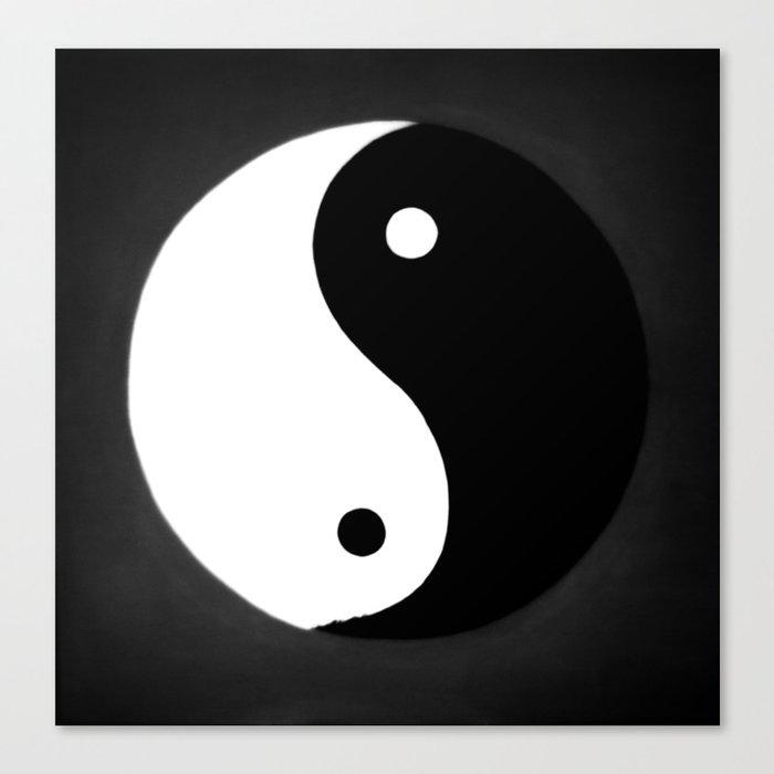 Yin and Yang BW Leinwanddruck