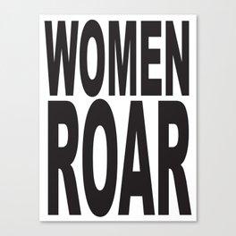 WOMEN ROAR Pop Art Canvas Print