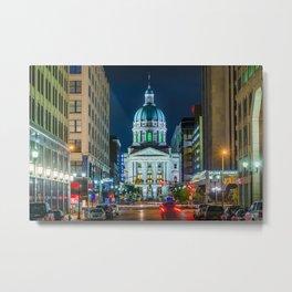 Market St & The Statehouse Metal Print