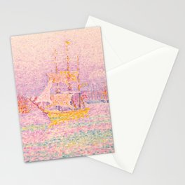 """Paul Signac """"Harbour at Marseilles"""" Stationery Cards"""