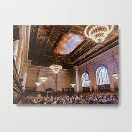 NYC Library // Retro 52 Metal Print