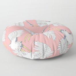 Pink Cranes Floor Pillow