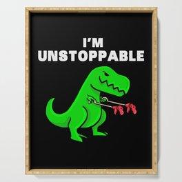 I am unstoppable   Dinosaur Tyrannosaurus Rex Serving Tray