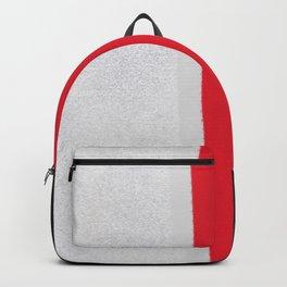 silver grey red black striped geometric minimal digital painting Backpack