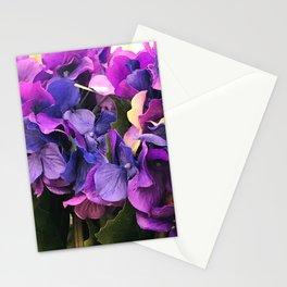 Purple Violet Hydrangeas Flowers Stationery Cards