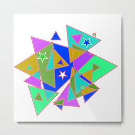 In triangle Metal Print
