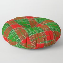 Red and Green Plaid, Tartan, Red and Green Checked Floor Pillow