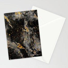 Galaxy (black gold) Stationery Cards