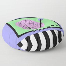 Play That Retro Geometric Vinyl Floor Pillow