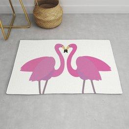 Flamingos in love Rug