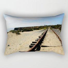Tracks Into the Horizon Rectangular Pillow