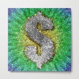 Dollar Sign Pop Art Metal Print