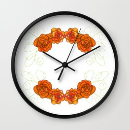 Roses are Orange - Passion 2 Wall Clock