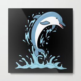 Sea Animals Dolphins lover Metal Print