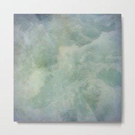 Turquoise Seafoam And Ocean Metal Print