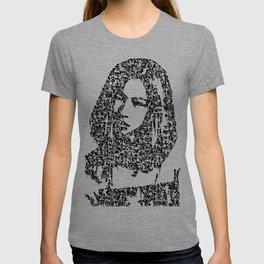 Kanji Calligraphy Art :woman's face #31 T-shirt