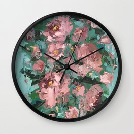 Roses - Botanical Series by Meredith Marsone Wall Clock
