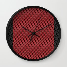 Red Ledges Wall Clock