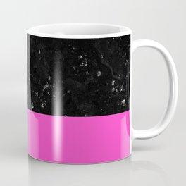 Pink Meets Black Marble #1 #decor #art #society6 Coffee Mug