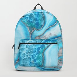 Liquid Marble -Blue quartz and gemstones Backpack