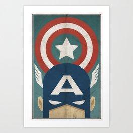 Star-Spangled Avenger Art Print