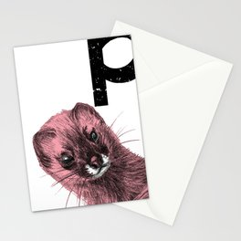 Pink goes the weasel Stationery Cards
