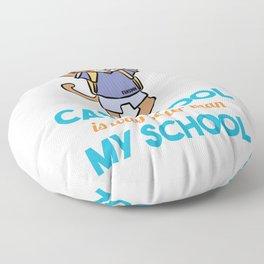 Cat school smart learning Nerd Miau Floor Pillow