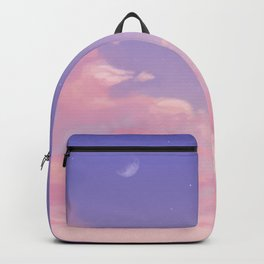Sky Purple Aesthetic Lofi Backpack
