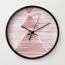 Rosario Watercolor in Pink Wall Clock