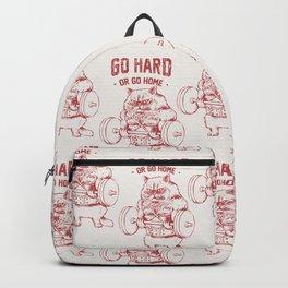 Go Hard or Go home Cat Backpack