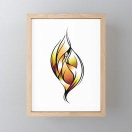 Fire Framed Mini Art Print
