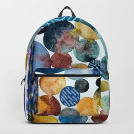 contemporary watercolor pattern design heath set  Backpack