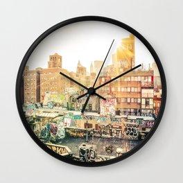 New York City Graffiti Wall Clock