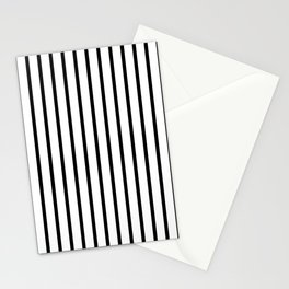 Black and White Vertical Stripes - Version 2 Stationery Cards