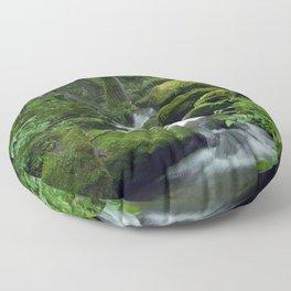 Summer Forest Brook Floor Pillow