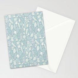 Very Leafy In Blue Stationery Cards