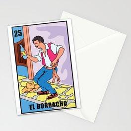 El Borracho Spain Drunk cartoon gift Stationery Cards